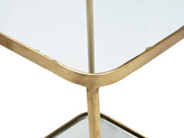 Wonder-Brass side table with brass, glass and mirror