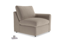 Chatnap Storage Single Seat in Fawn clever velvet with a right arm