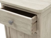 Stowaway reclaimed wood bedside table