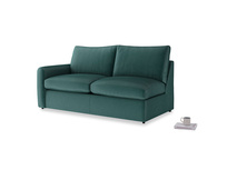 Chatnap Storage Sofa in Timeless teal vintage velvet with a left arm