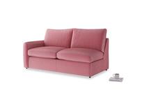 Chatnap Storage Sofa in Blushed pink vintage velvet with a left arm