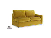 Chatnap Storage Sofa in Burnt yellow vintage velvet with a right arm