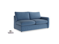Chatnap Storage Sofa in Hague Blue cotton mix with a right arm