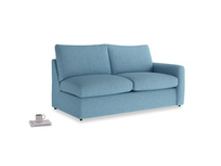 Chatnap Storage Sofa in Moroccan blue clever woolly fabric with a right arm