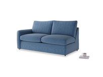Chatnap Storage Sofa in Hague Blue cotton mix with a left arm