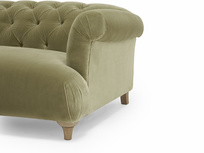 Dixie button back contemporary corner sofa