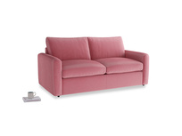 Chatnap Sofa Bed in Blushed pink vintage velvet with both arms