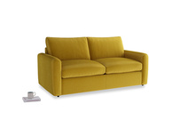 Chatnap Sofa Bed in Burnt yellow vintage velvet with both arms