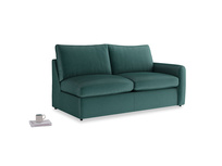 Chatnap Sofa Bed in Timeless teal vintage velvet with a right arm