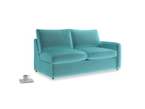 Chatnap Sofa Bed in Belize clever velvet with a right arm