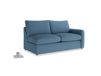 Chatnap Sofa Bed in Easy blue clever linen with a right arm