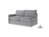 Chatnap Sofa Bed in Brittany Blue french stripe with a left arm