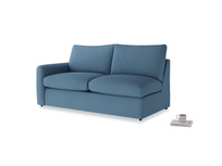Chatnap Sofa Bed in Easy blue clever linen with a left arm