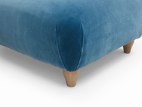 Soufflé footstool contemporary finish