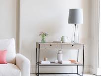 Shardy tall glass table lamp
