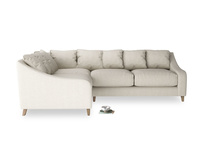 Classic L shaped luxury deep seated Oscar corner sofa