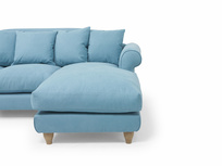 Comfy British made Sloucher chaise sofa