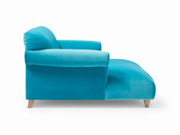 Luxury modern style Soufflé love seat chaise