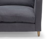 British made contemporary comfy Flopster sofa with high rounded arms