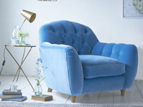 Butterbump chesterfield button back armchair