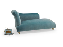 Modern Brontë Chaise longue sofa handmade in Britain