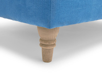 Fabric handmade British made Flatster upholstered footstool