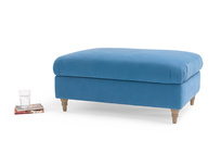 Flatster beautiful handmade fabric upholstered footstool
