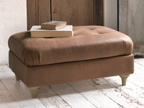 Upholstered handmade Jammy Dodger authentic large footstool