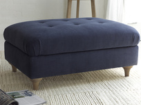 Beautiful Jammy Dodger handmade upholstered large footstool