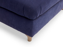 Handmade gorgeous Jammy Dodger upholstered large footstool