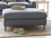 Legsie fabric large upholstered  footstool coffee table