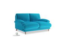 Small Slowcoach Sofa in Azure plush velvet