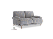 Small Slowcoach Sofa in Brittany Blue french stripe