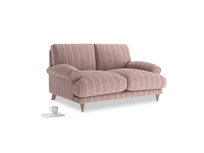 Small Slowcoach Sofa in Red french stripe