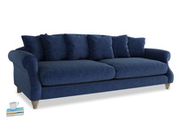 Extra large Sloucher Sofa in Ink Blue wool