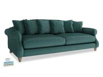Extra large Sloucher Sofa in Timeless teal vintage velvet
