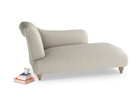Left Hand Brontë Chaise Longue in Thatch house fabric