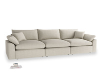 Large Cuddlemuffin Modular sofa in Thatch house fabric