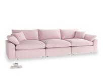 Large Cuddlemuffin Modular sofa in Pale Rose vintage linen