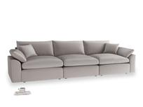 Large Cuddlemuffin Modular sofa in Soothing grey vintage velvet