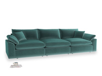 Large Cuddlemuffin Modular sofa in Real Teal clever velvet