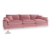 Large Cuddlemuffin Modular sofa in Dusty Rose clever velvet
