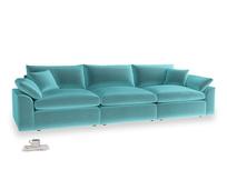 Large Cuddlemuffin Modular sofa in Belize clever velvet