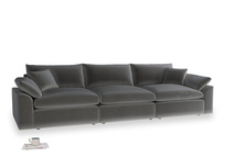 Large Cuddlemuffin Modular sofa in Steel clever velvet