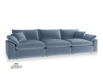 Large Cuddlemuffin Modular sofa in Winter Sky clever velvet
