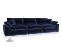 Large Cuddlemuffin Modular sofa in Midnight plush velvet