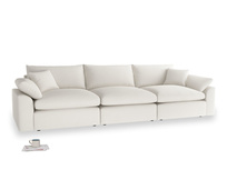 Large Cuddlemuffin Modular sofa in Oyster white clever linen