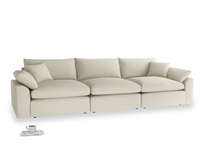 Large Cuddlemuffin Modular sofa in Pale rope clever linen
