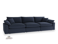 Large Cuddlemuffin Modular sofa in Indigo vintage linen