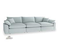 Large Cuddlemuffin Modular sofa in Duck Egg vintage linen